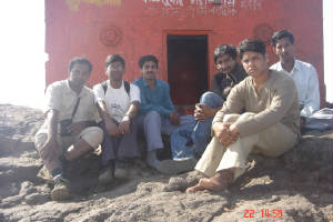 At Kalsubai temple with Darshan's group